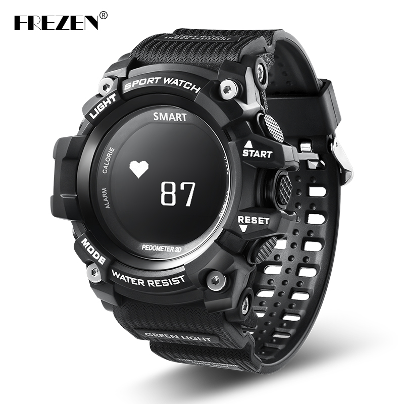 FREZEN T1 Smart Sport Watch OLED Display Heart Rate Monitor IP68 Waterproof Push Message Call Reminder for Android IOS Phone new x7 smart watch with heart rate clock ultra long standby ip68 waterproof sports smartwatch message push for android ios phone