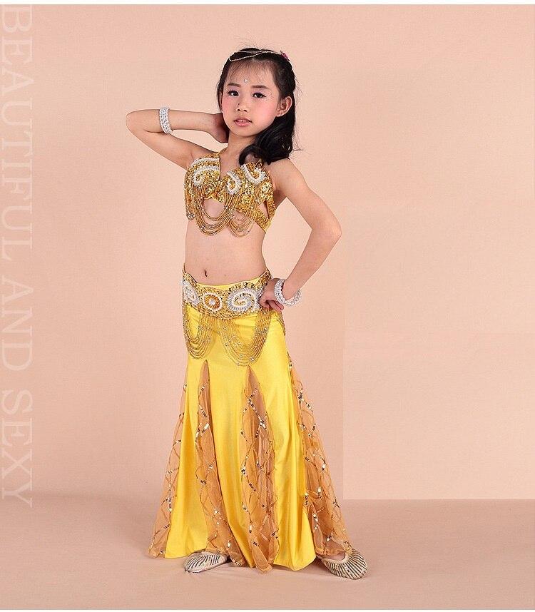 d1441ba49277c 8 Couleurs Livraison Gratuite Enfants Filles De Danse Du Ventre Costume de  Haute Qualité 2-3 pcs Enfants Bellydance Robes De Soirée Bollywood indien