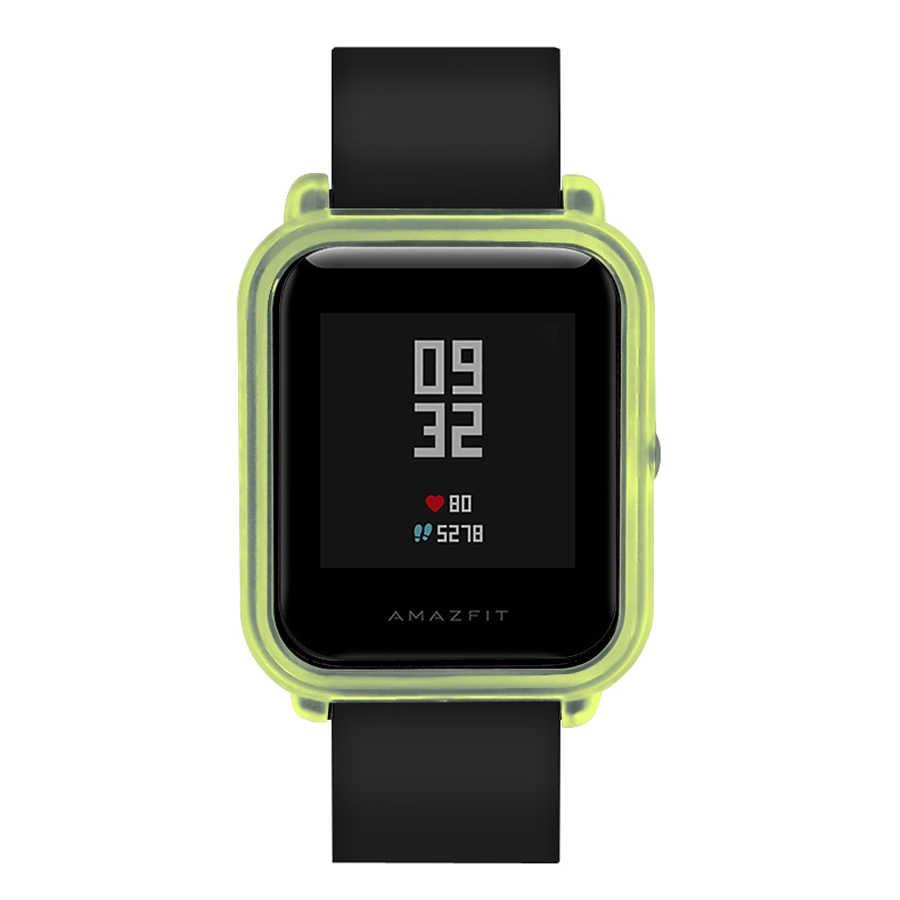Boîtier de montre cadre pour Amazfit Bip jeunesse montre intelligente étui de protection mince cadre coloré housse étui à pc protéger coque pour Xiaomi Hua