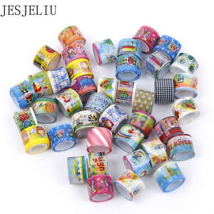 10 pcs Mini Cartoon Washi Roll DIY Decor Scrapbooking Sticker Masking Tape DIY Sticker Label Masking Tape kawaii