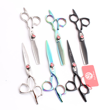 50Pcs Z9017 6.0 440C Purple Dragon Wholesale Hairdressing Shears Cutting Thinning Scissors Barber Hair