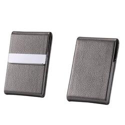 Papierośnica ze stali nierdzewnej PU Cigar schowek pojemnik na tytoń 1 karta PC przypadki akcesoria do palenia wielofunkcyjne