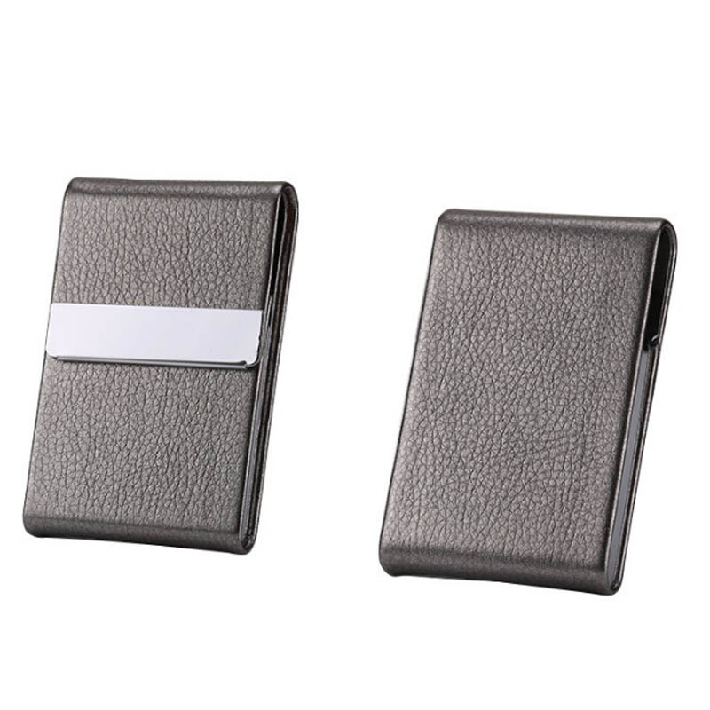 Stainless Steel Cigarette Case PU Cigar Storage Box Tobacco Holder 1 PC Card Cases Smoking Accessories Multifunction