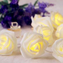 1/2/3/4/5M 10/40 LEDs Rose Table Lights Wire String Light For Christmas Wedding Lighting LED Garland Strip Home Party Decoration