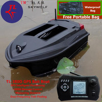 Free Bag GPS Position Smart Remote Control RC Bait Boat TL 380D Dual Bait Bell Wireless Sonar Fish Detector Fix Up Fishing Net