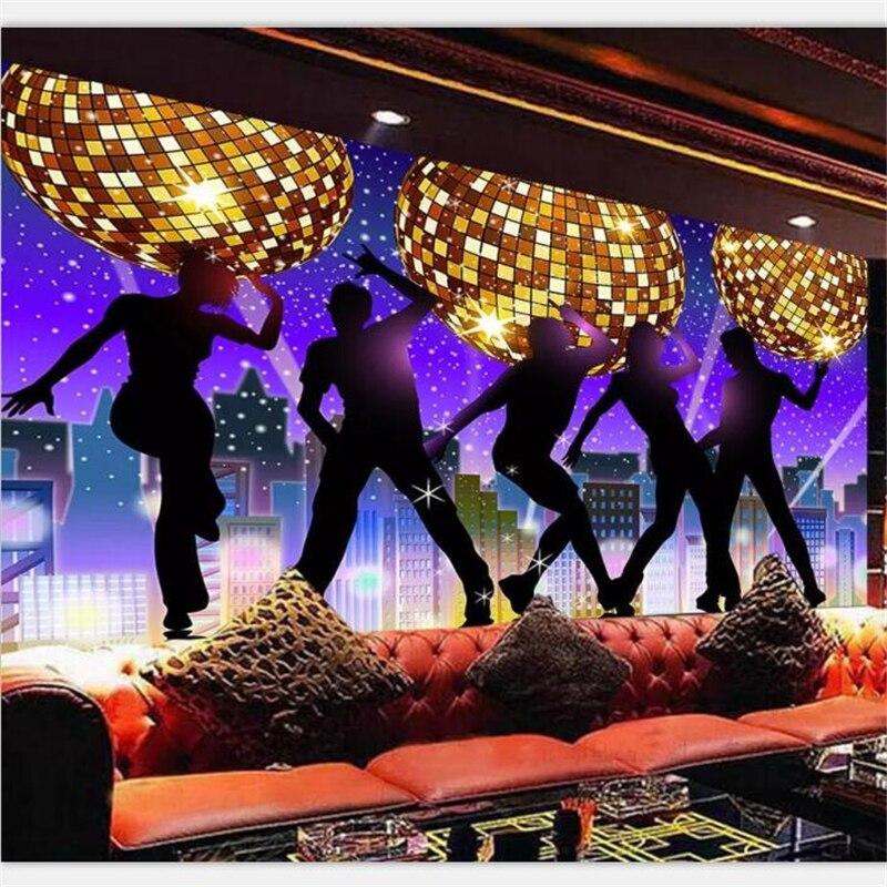 karaoke background ballroom bar ktv disco tooling nightclub beibehang personalized fantasy scale custom wall