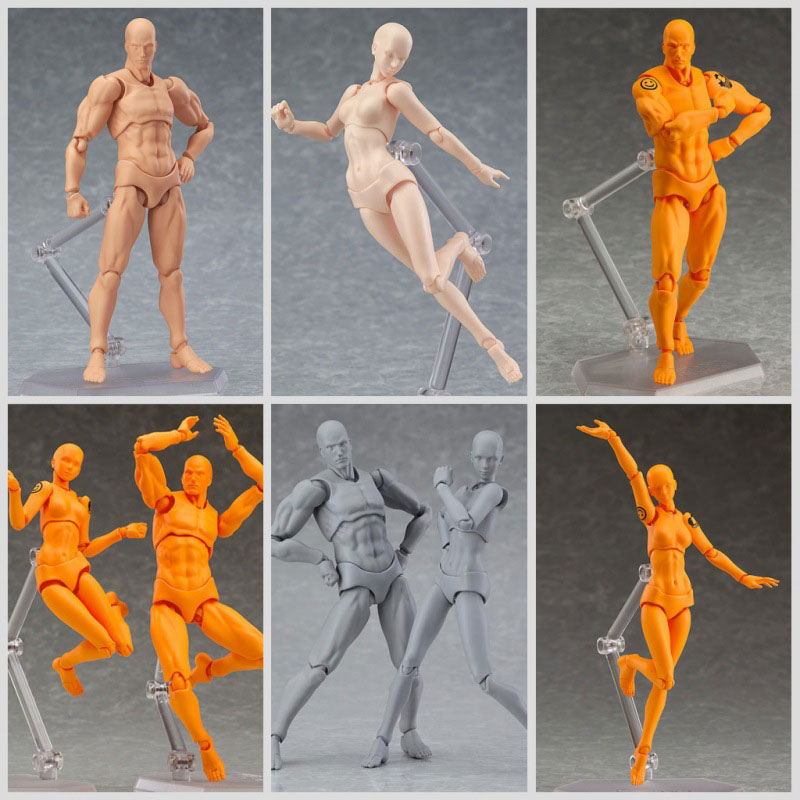 Anime Figma BODY KUN / BODY CHAN body-chan body-kun PVC She Ferrite Figma Movable Action Figure Model Toys For Children Adult what she left