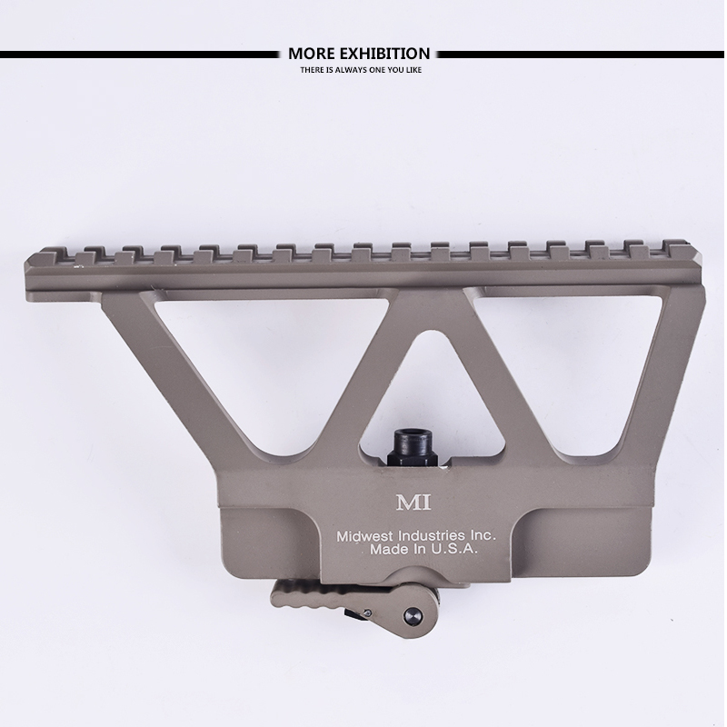 Quick Release Ak Gun Picatinny Rail Scope Mount Base Side Rail Mounting Suitable For Ak 47 Ak 74 Parts Hunting Rifle Range Bracing Up The Whole System And Strengthening It Sports & Entertainment