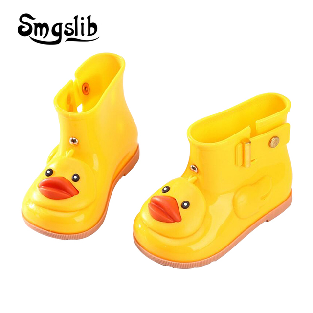 9403a263df US $19.39 |kids rain boots girls shoes girls boys Antiskid Waterproof Jelly  Soft Shoes Cute duck Cartoon Design Children Rubber Boots -in Boots from ...