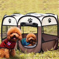 Dog Playpen Fence Pet Exercise Crate Puppy Play Pen Enclosure Tent