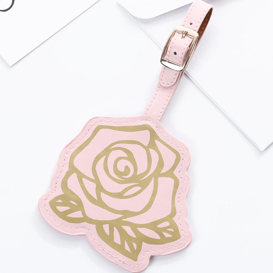 Factory Sales Suitcase Rose Luggage Tag Label Bag Pendant Handbag Portable Travel Accessories Name ID Address Tags LT26B