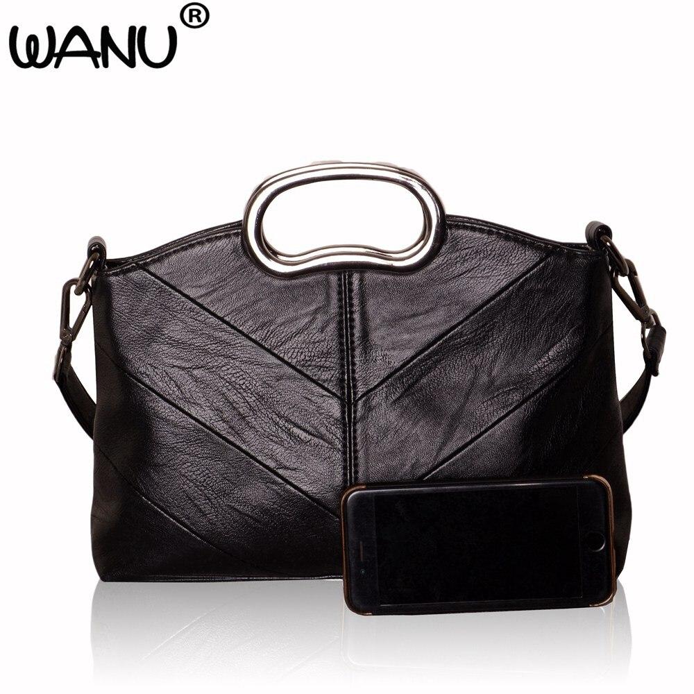 wanu mulheres couro moda bolsas Dureza : Suave