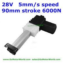 28 в Okin/dewero кресло 90 мм ход 5 мм/сек. скорость 6000N нагрузки линейный привод двигателя