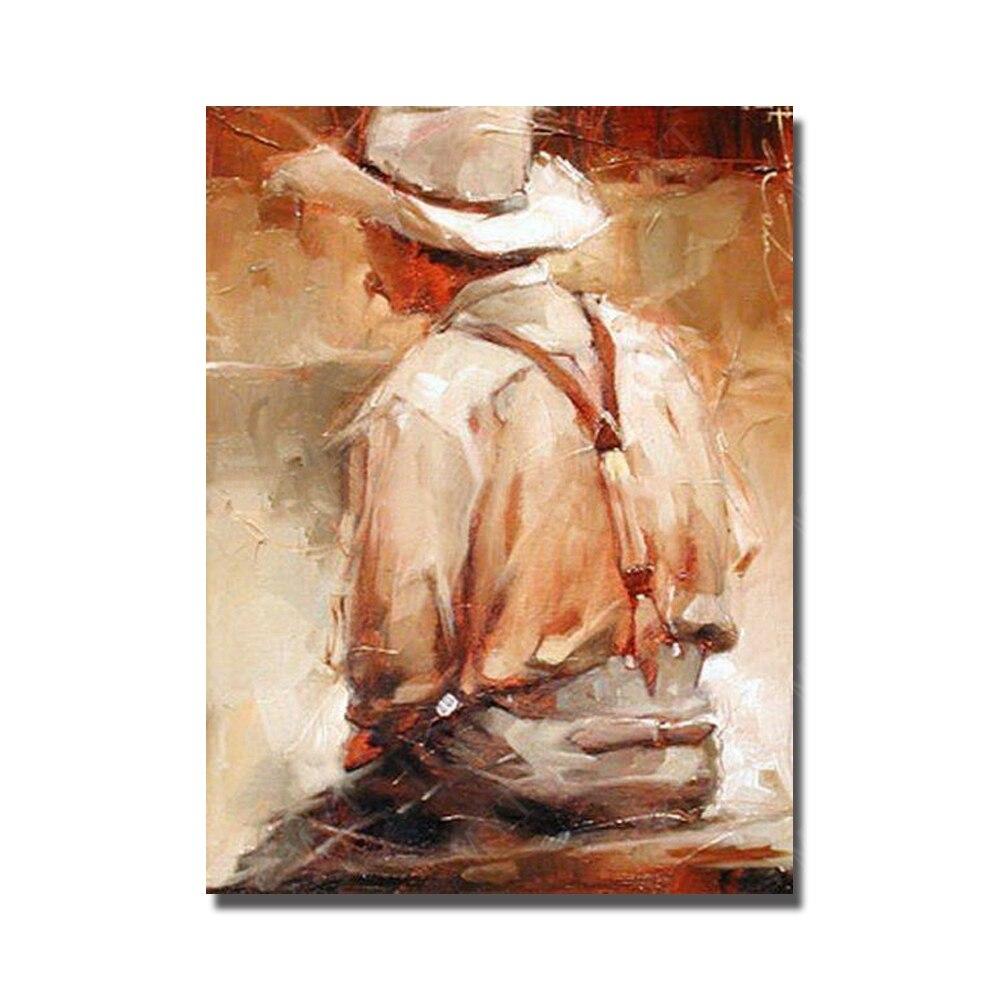 ᗚFait  la main grande taille toile art pas cher prix figure art