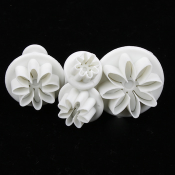 plum flower plunger cookie biscuit cutter and fondant cake decorating diy tool molds