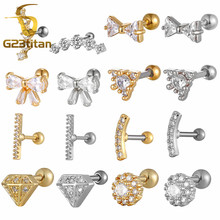 Gold Silver Color Piercing Body Round Line Ear Climber Ear Crawlers Curved bar earrings Dainty Ear climber Gold Ear Vine Jewelry kampfer climber kb 1203