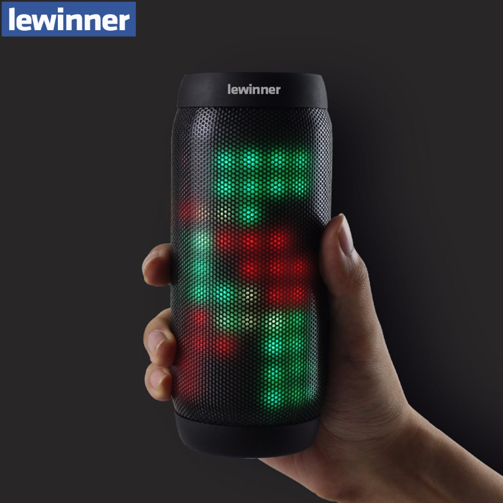New lewinner BQ615 pro Portable Bluetooth Wireless Music Speaker TF card/USB Flash Drive FM radio Strong Bass Stereo with Mic portable wireless bluetooth column speaker stereo subwoofer support usb sound box tf fm radio with mic dual bass loudspeaker
