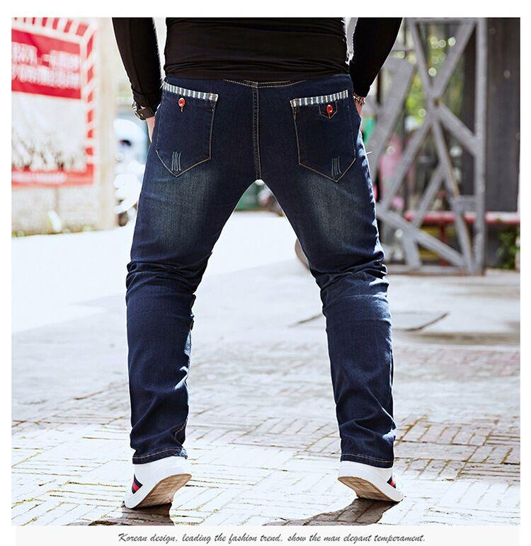 Размера плюс 8xl 4xl 6xl 48 50 52 мужские брюки в стиле хип-хоп хлопковые топы черные синие длинные брюки мужские брендовые длинные джинсы - Цвет: model 5
