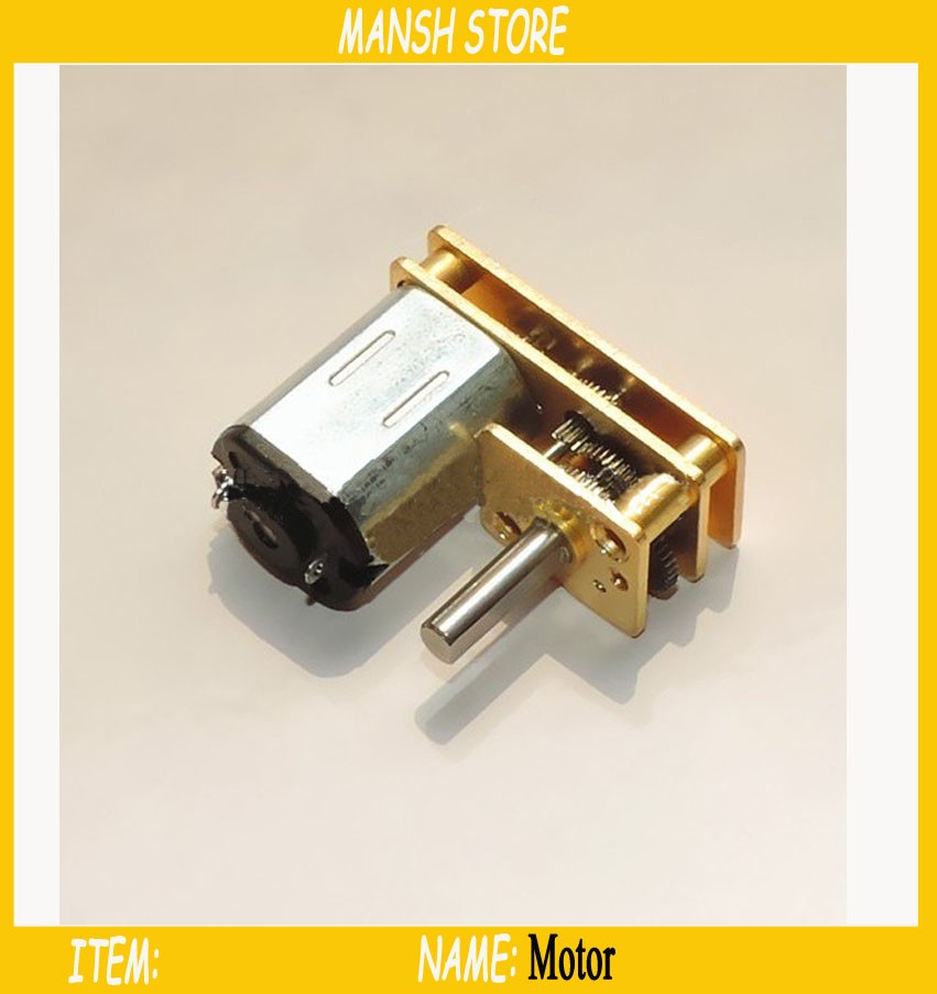 U Type Dc 12v Micro Gear Motor Speed Reduction Motor With