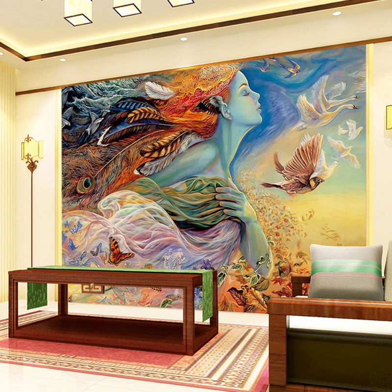 High Quality Custom 3D Photo Wallpaper 3D Beautiful Spirit Living Room TV Backdrop Wall Mural Art Painting Mural Wall Paper custom 3d stereoscopic large mural wallpaper wall paper living room tv backdrop of chinese landscape painting style classic