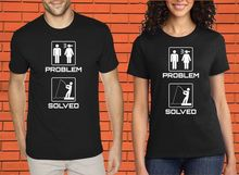 Problem Solved Married Couple Husband Hobby Funny Slogan Fisher  New T Shirts Tops Tee Unisex freeshipping