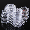 12 Grids Transparent Rotating Drawers Collecting Rhinestone Manicure Nail Decorations Storage Case