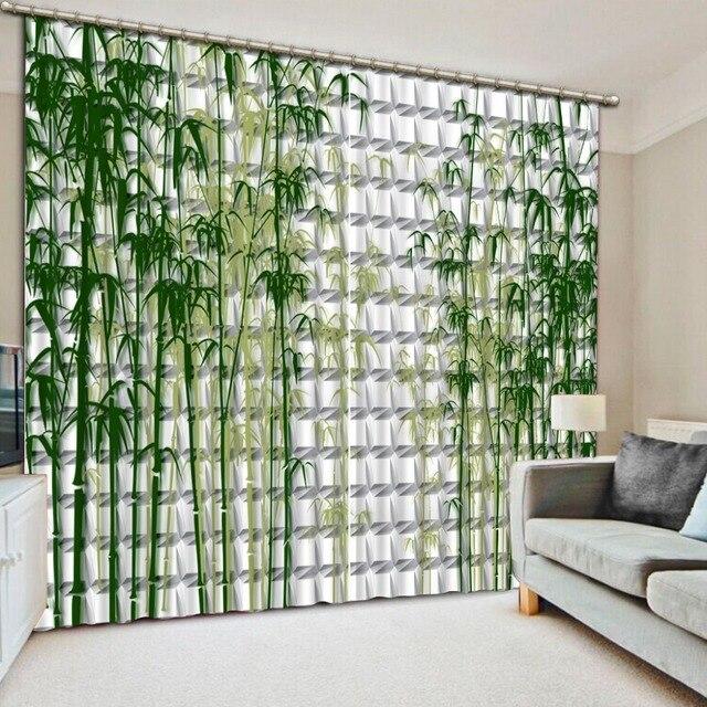 Europeo Blackout 3D Tenda Della Finestra Per soggiorno Bambù muro di ...