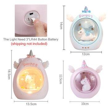 Cartoon Unicorn LED Light Nursery Lamps