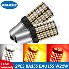 ASLENT 2 PCS 1157 1156 BA15S P21W BAU15S PY21W T20 7440 W21W LED Bulbs 144smd led CanBus No Error lamp For Turn Signal Light автолампа xenite ts 7811 светодиодная 9 30v t20 w21w 1009340 2 шт