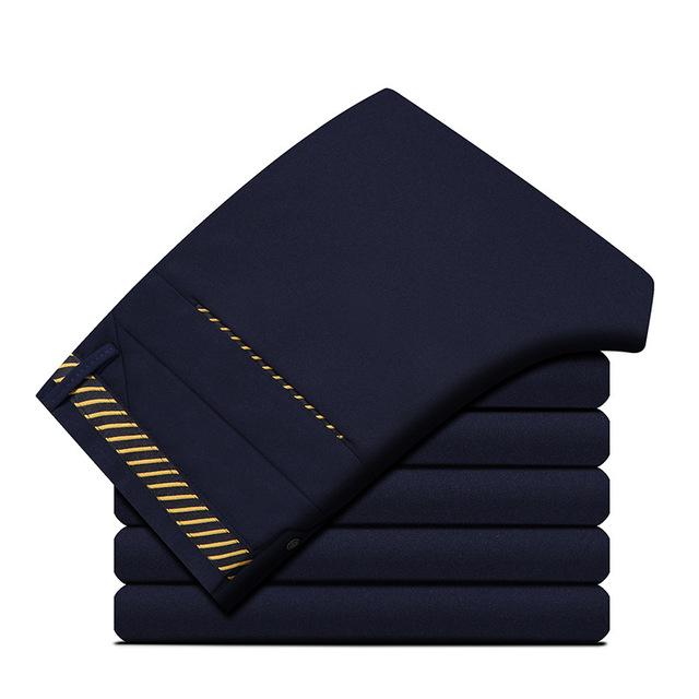 Nova Marca de Design Dos Homens Calça Casual Calças Retas Slim Fit Moda Calças Compridas dos homens Calças Dos Homens de Negócios de Verão Tamanho Grande 29-40 U12