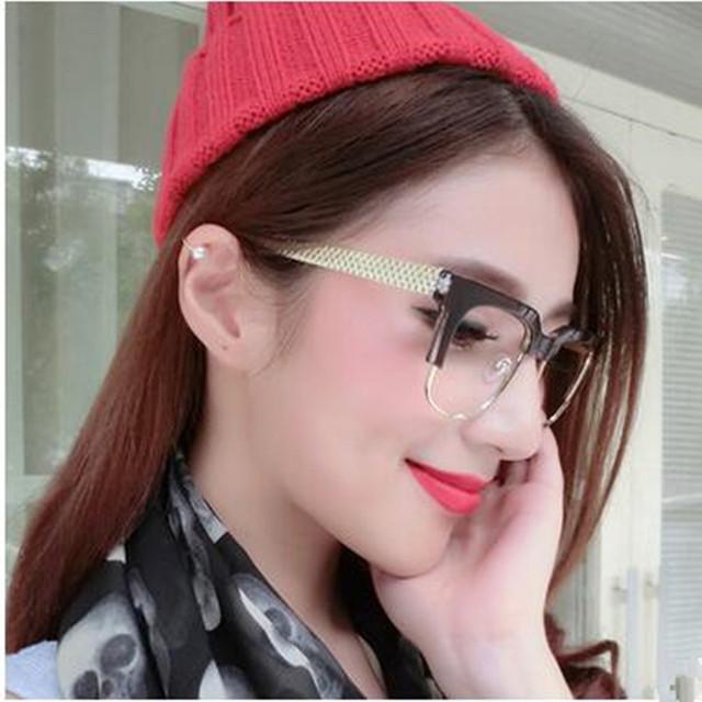 Mulheres Óculos De Metal Full Frame de Espetáculo Ultra Leve Quadro Óculos de Miopia