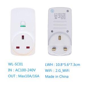 Image 5 - Tonbux AU/FR/EU/UK Spina Smart Plug Wifi HA CONDOTTO LA Luce Display Google Casa Accettare Alexa di Controllo assistente Intelligente Presa Di Alimentazione