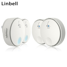 Linbell G2 smart wireless electric door bell no battery outdoor waterproof doorbell home EU/US/UK plug 2 transmitter 2 Receiver
