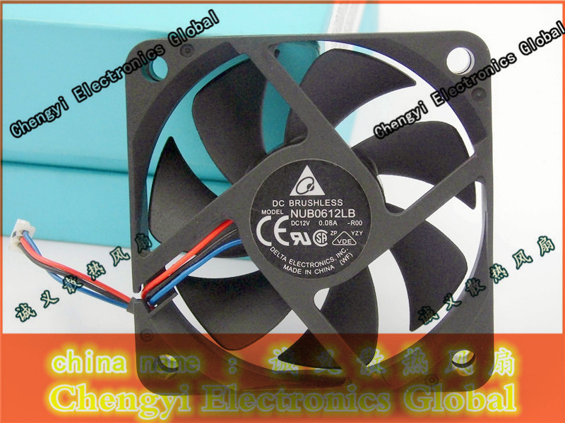 FREE SHIPPING DELTA NUB0612LB 12V 0.08A 6CM 6015 60*60*15MM cooling fan original delta afb0612vhc 6cm 60mm 6013 6 6 1 3cm 60 60 13mm 12v 0 36a dual ball bearing cooling fan specials