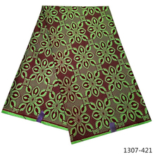 2019 Ankara African Polyester Wax Prints Fabric High Quality 6 yard for Party Dress 1307-42