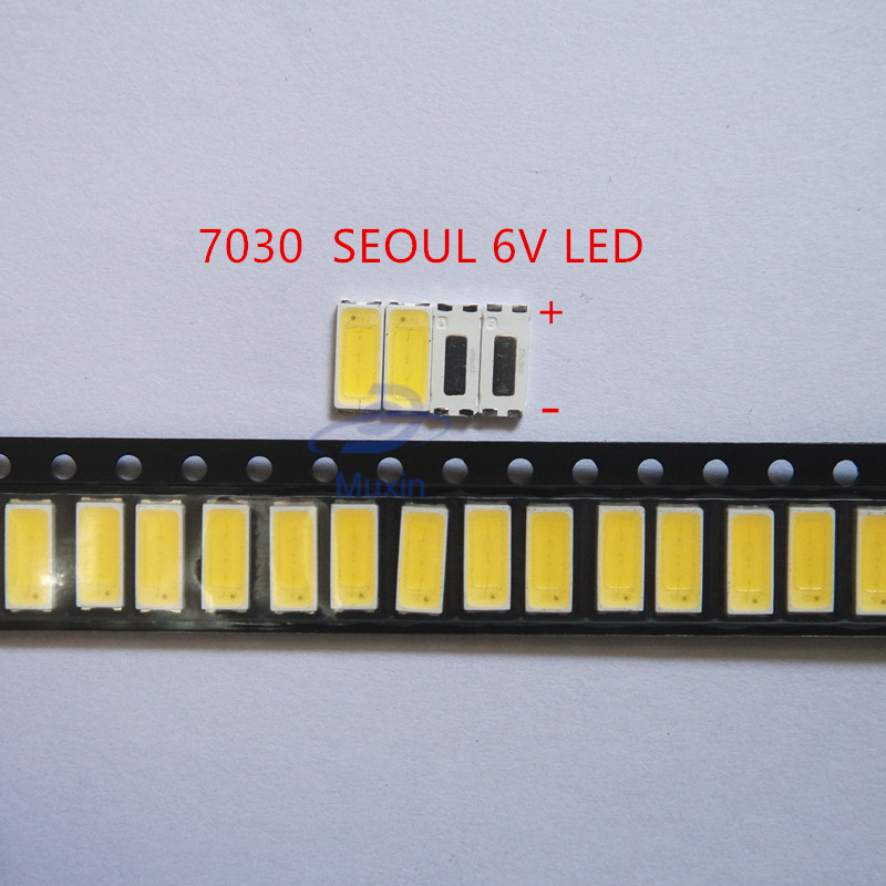 Active Components 1000piece For Repair Sony Toshiba Sharp Led Lcd Tv Backlight Seoul Smd Leds 7030 6v Cold White Light Emitting Diode Stwbx2s0e