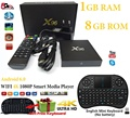 Tv box S905X x96 android 6.0 Original Más Nuevo Amlogic Quad Core1GB/8 GB WIFI 4K1080P smart tv caja Media jugador + Air Mouse Keyboard