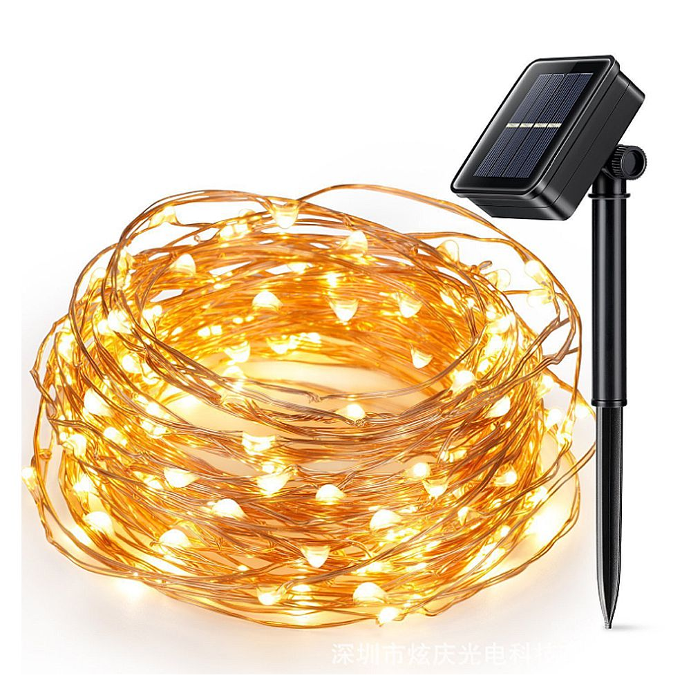 LumiParty 10 m LED Solar Fairy Lights Outdoor Koperdraad String ...