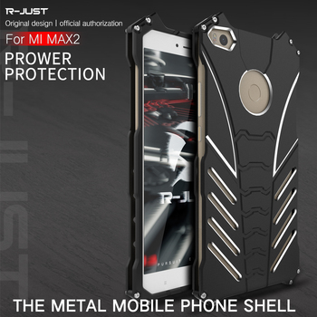 R-Just Batman Case for Xiaomi Max2 Metal Aluminum Fundas Coque Capinhas Batman Case for Xiaomi Max 2 Case Cover Capa image