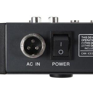 Image 4 - LEORY 6 Canali Karaoke Mixer Audio Con USB 48V Phantom Power bluetooth Microfono Professionale del Suono di Miscelazione Amplificatore Console