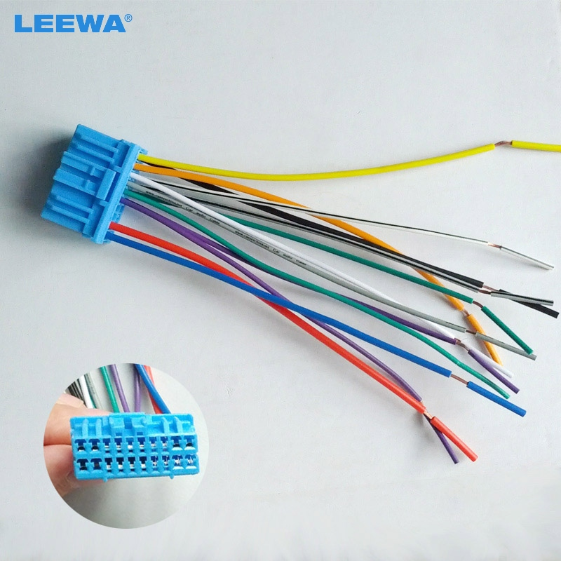 Leewa Car Audio Stereo Wiring Harness For Honda  Acura  Accord  Civic  Crv Pluging Into Oem Factory