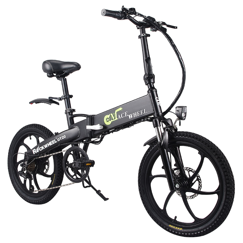 20inch Electric Bike 48v10a Lithium Battery Aluminum Alloy Folding Electric Bicycle 350w Powerful Mountain /snow/ City Ebike