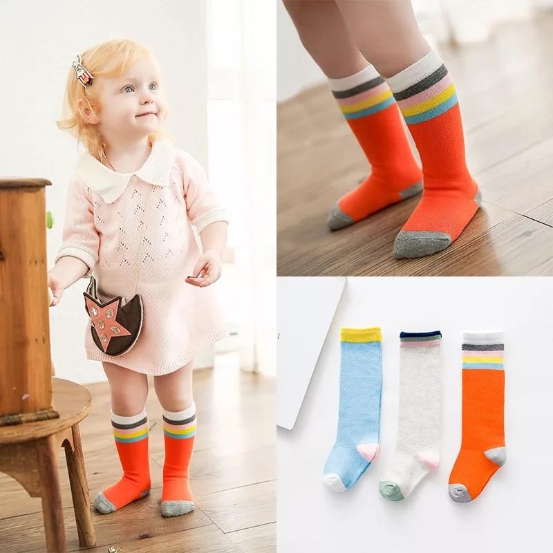 Kids Long Socks Knee High toddler Girls Boot Sock Leg