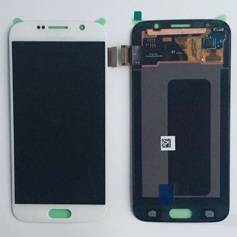 LCD Display Screen Touch Digitizer Glass Assembly white For Samsung S6 G920 G920F G9200 Mobile Phone