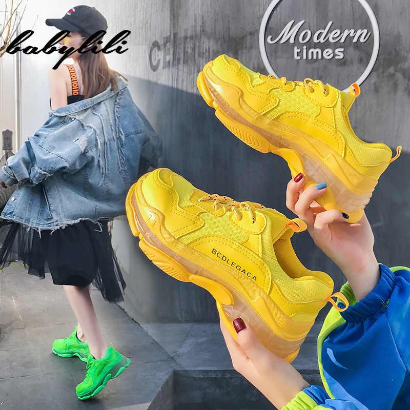 ผู้หญิงแฟชั่นรองเท้าผ้าใบสำหรับสตรี Chunky Causal พ่อรองเท้าผู้หญิงหนาสุภาพสตรี Jelly รองเท้า Chaussures Femme