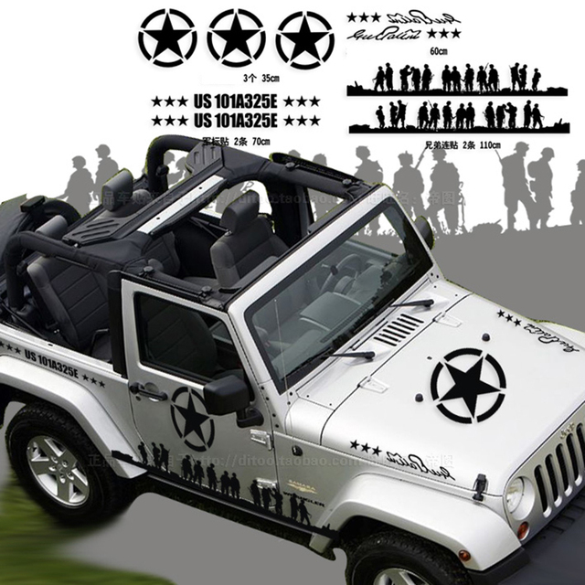 Band of brothers design car body vinyl stickercool car styling die cut decals decoration
