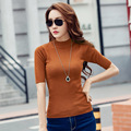 Woman summer plus size solid Turtleneck Half Pullovers female spring oversized stretch sweater lady fall  oversized slim sweater