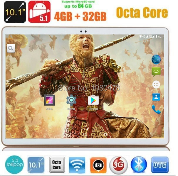 2017 Newest DHL Free 10 inch Tablet PC 4G LTE Octa Core 4GB RAM 32GB ROM Android 5.1 IPS GPS 5.0MP WCDMA 3G Tablet 10.1
