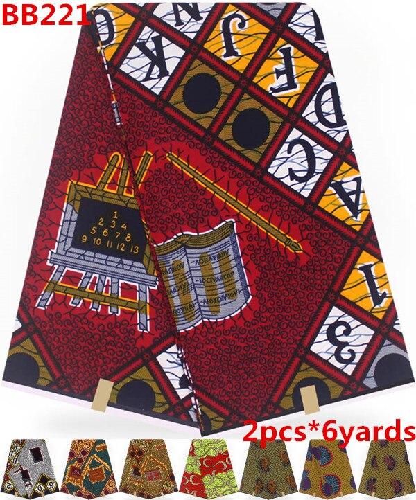 Tela africana de Batik para el vestido telas ankara para patchwork tela de impresión de cera Africana 12 yardas 100% tela de algodón para el vestido BB221-in Tela from Hogar y Mascotas    1