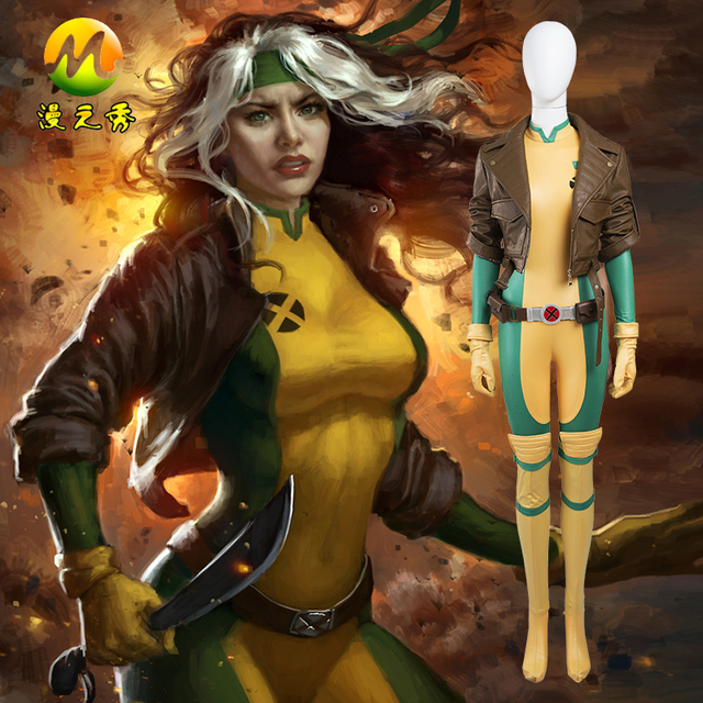 Us 169 0 Hot Movie X Men Rogue Cosplay Carnival Cosplay Costume Halloween Party For Adult Women Yellow Color Size Can Be Customized In Movie Tv